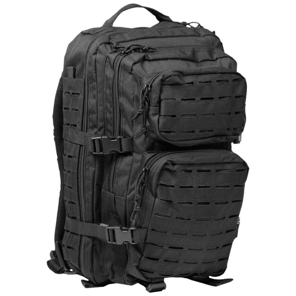 Mil-Tec US Assault Pack Large Laser Cut Black 14002702