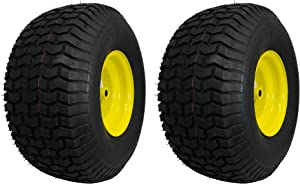 MARASTAR 21424-2pk 20x8.00-8 Rear Tire Replacement for John Deere, 2 Pack, Yellow