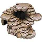 Penn-Plax Reptology Shale Step Ledge for Aquariums & Terrariums, Adds Hiding Spots, Swim Throughs, Basking Ledges for…