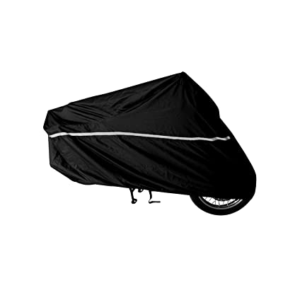 RaynCover Motorcycle Cover, Indoor and Outdoor, Waterproof, Heavy Duty Fabric, Windshield Liner, Vents, Double Stitching, Sealed Seams, Breathable Fabric, Heat Shield, Cloth/No rust Lock Holes. (XXL): Automotive