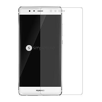 Simplecase Premium Displayschutz Größe: Huawei P9 Plus aus 9H Panzerglas/Echtglas/Verbundglas 1 Stück für Durchsichtig