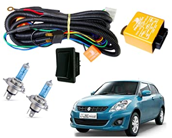 Autopearl Halogen Headlamp Wiring Harness Kit for Maruti ... on