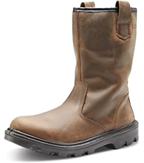48278de3683 Click - Black Leather Safety Boot with Steel Toecap: Amazon.co.uk ...