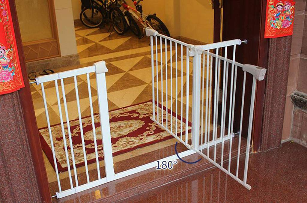 105-112cm Indoor Safety Gate Expandable, Extra Wide for Doorways and Stair, Auto Close Pet Gate with Cat Dog Door, Metal 75-142cm (Size   105-112cm)
