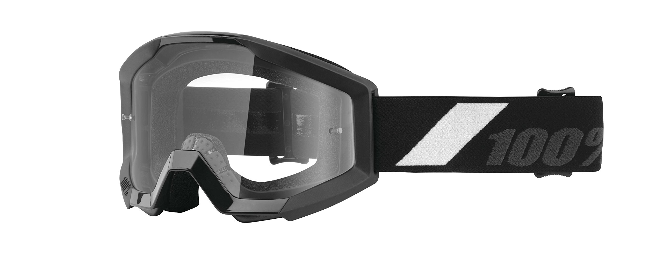 100% 50500-166-02 unisex-adult Goggle (Black,Clear,Youth) (STRATA JUNIOR STRATA Youth GOL Clear Lens)