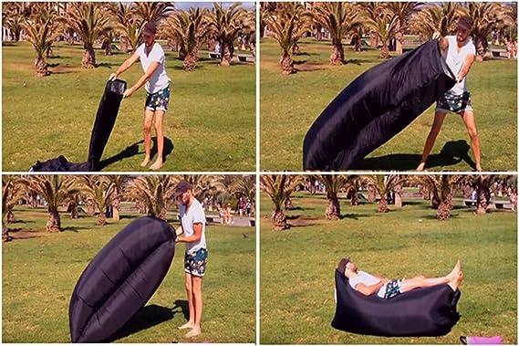 Hamaca tumbona sofá inflable con bolsa de transporte aéreo sofá ...