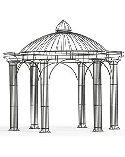 Carpa para jardín, cenador de metal, pabellón de acero, cenador Holland, diámetro de 350 cm (hierro pulido): Amazon.es: Jardín