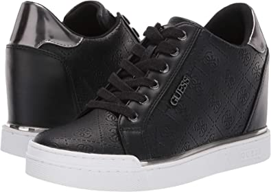 17f1e0c78 GUESS Women s FLOWURS Sneaker Black 6 M US