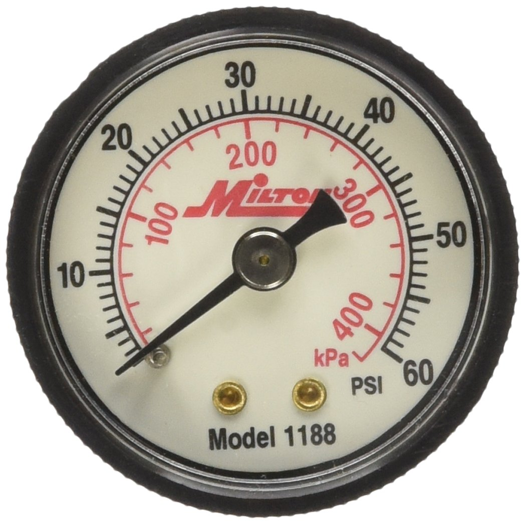 Milton 1188 1//8 NPT Mini Pressure Gauge Milton Industries