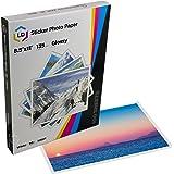 LD Glossy Inkjet Photo Sticker Paper (8.5X11) 100 pack