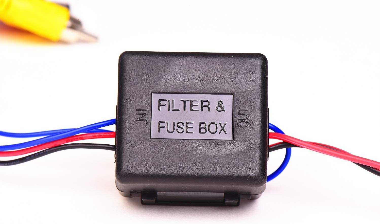 Kit de instalación para cámara de Aparcamiento de 12 V CC con Filtro de alimentación para VW Skoda BMW Audi Benz