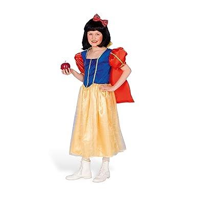 Kinder Fasching Marchen Kostum Schneewittchen Kleid Prinzessin