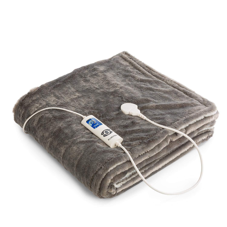 Watson XL /• Manta el/éctrica /• Frazada el/éctrica /• Calentador de cama /• 180 x 130 cm /• Potencia 120 W /• 3 Temperaturas regulables /• Temporizador /• Marr/ón XL Klarstein Dr