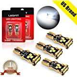 [4-PCS] LASFIT 912 921 T15 906 2835 W16W LED Light Bulb SMD 3030 Chipsets 1400 Lumens Extremely Bright for Car Reverse Backup Interior Dome Trunk Lights, Polarity Free, Xenon White