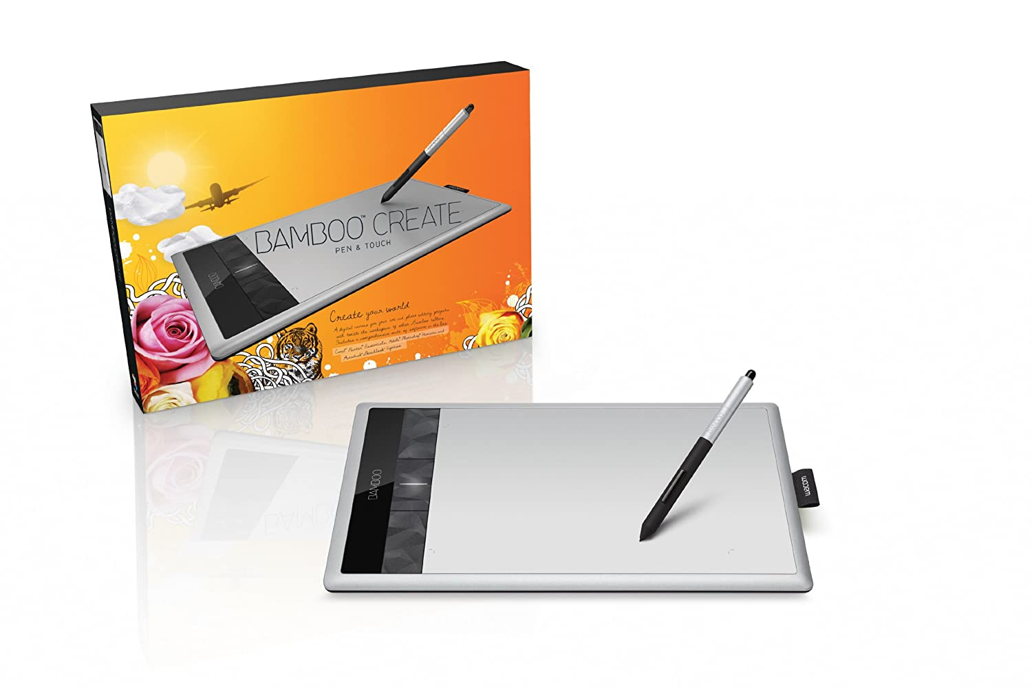 amazon com wacom bamboo create pen and touch tablet cth670 rh amazon com Wacom Bamboo Packaging Old Wacom Bamboo Fun