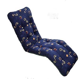 Brand New Replacement Garden Recliner Relaxer Chair Cushion Blue Pattern. Brand New Replacement Garden Recliner Relaxer Chair Cushion Blue