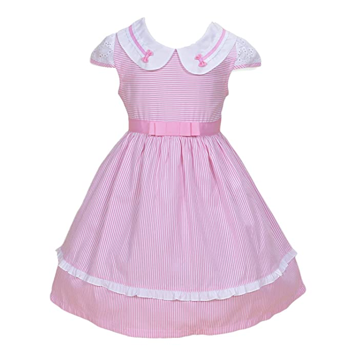 Cinda Niñas vestido de fiesta rayada Rosa 4-5 Años: Amazon.es: Ropa y accesorios