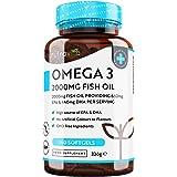 Omega 3 (2000 mg) - 660 mg de EPA y 440 mg de DHA - 240 Capsulas de Gel Suave de Aceite de Pescado Puro (Suministro para…