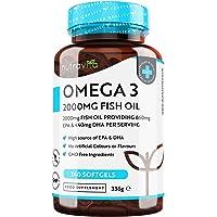 Omega 3 (2000 mg) - 660 mg de EPA y 440 mg de DHA - 240 Capsulas de Gel Suave de…