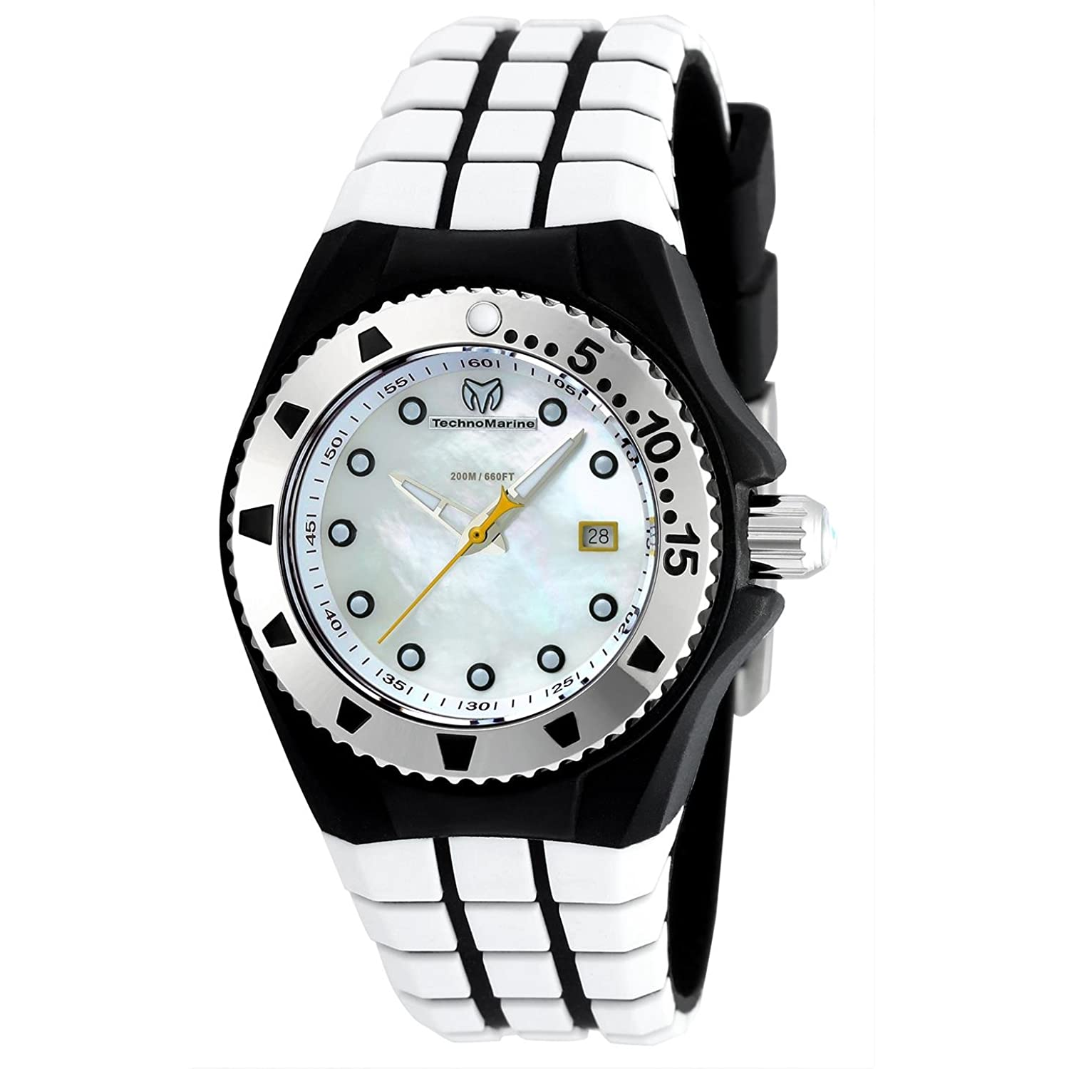 TECHNOMARINE CRUISE LOCKER DAMEN-ARMBANDUHR 34MM WEIß QUARZ ANALOG TM-115221