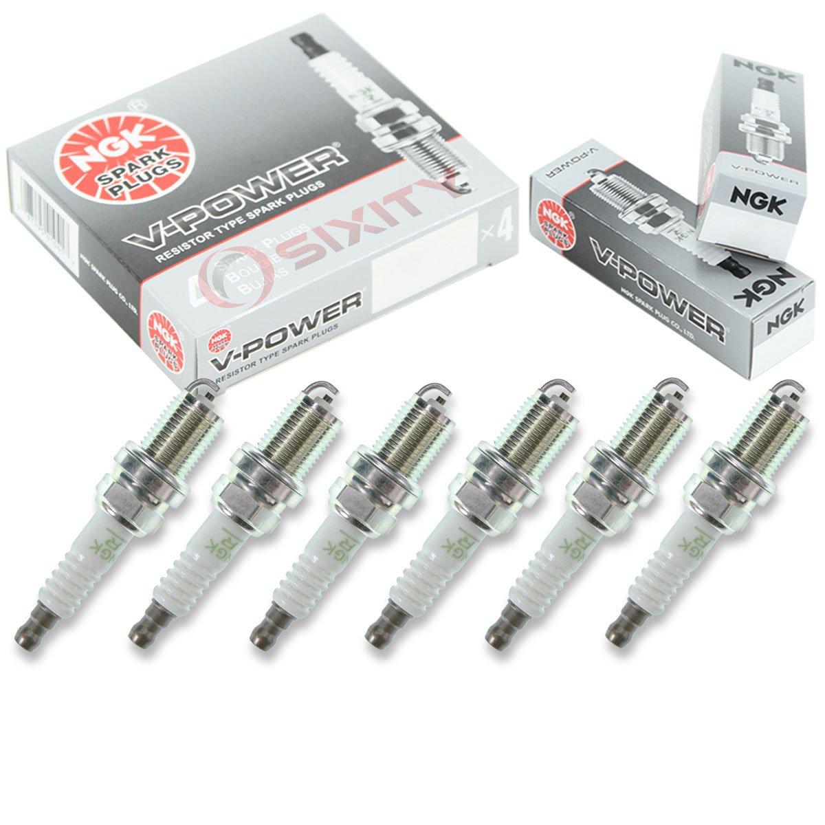 6 pcs NGK V-Power Plug Spark Plugs 2001-2005 BMW 525i 2.5L L6 Kit Set Tune Up