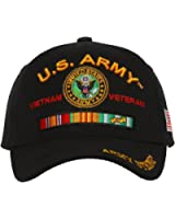 Army Strong U.S. Army Vietnam Veteran Official Licensed Black Baseball Cap