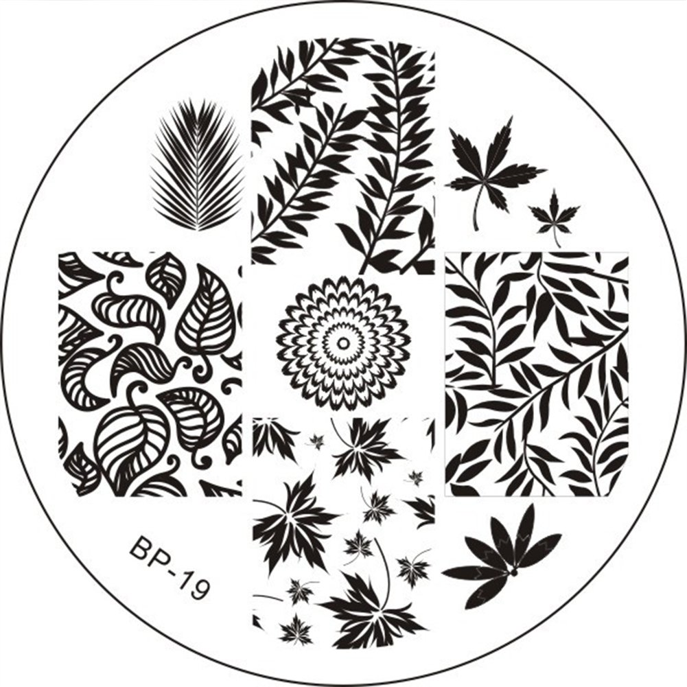 BeaTea 1 PCS Charming Spring Nail Art Stamp Template Fashion DIY Image Plate Tools for Nail Art Manicure