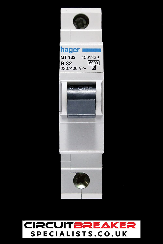 718xz2JPi2L._SL1500_ hager 32 amp 6 ka type b mcb mt132 450132 circuit breaker a hager fuse box reset at reclaimingppi.co