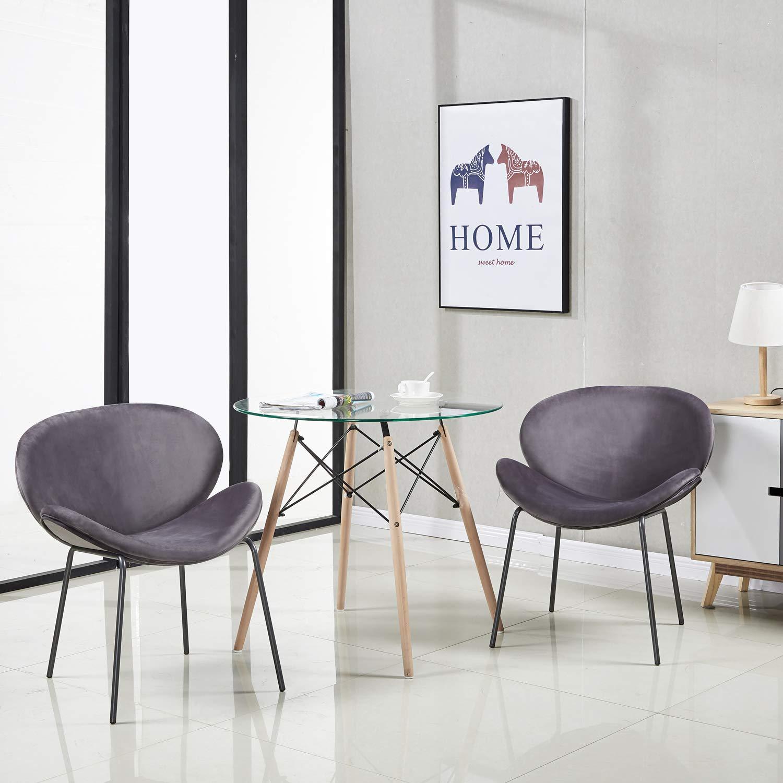 eggree sedie da pranzo in velluto sedia imbottita design