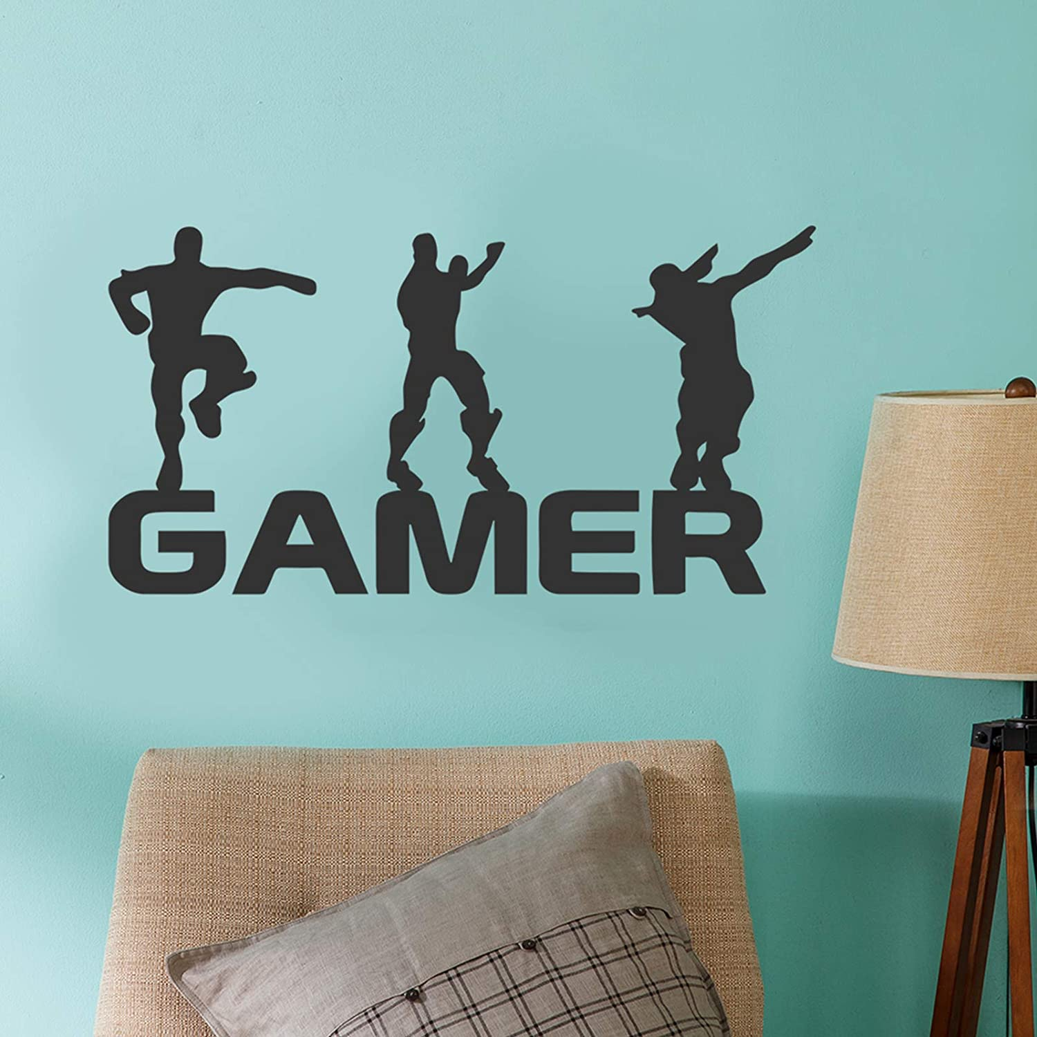 Gamer Wall Decals-Poster Decals Floss Dancing,Gamer Room Decor for Boys,Wall Sticker for Nursery Kids Room Removable Wall Vinyl Decal Game Stickers 08
