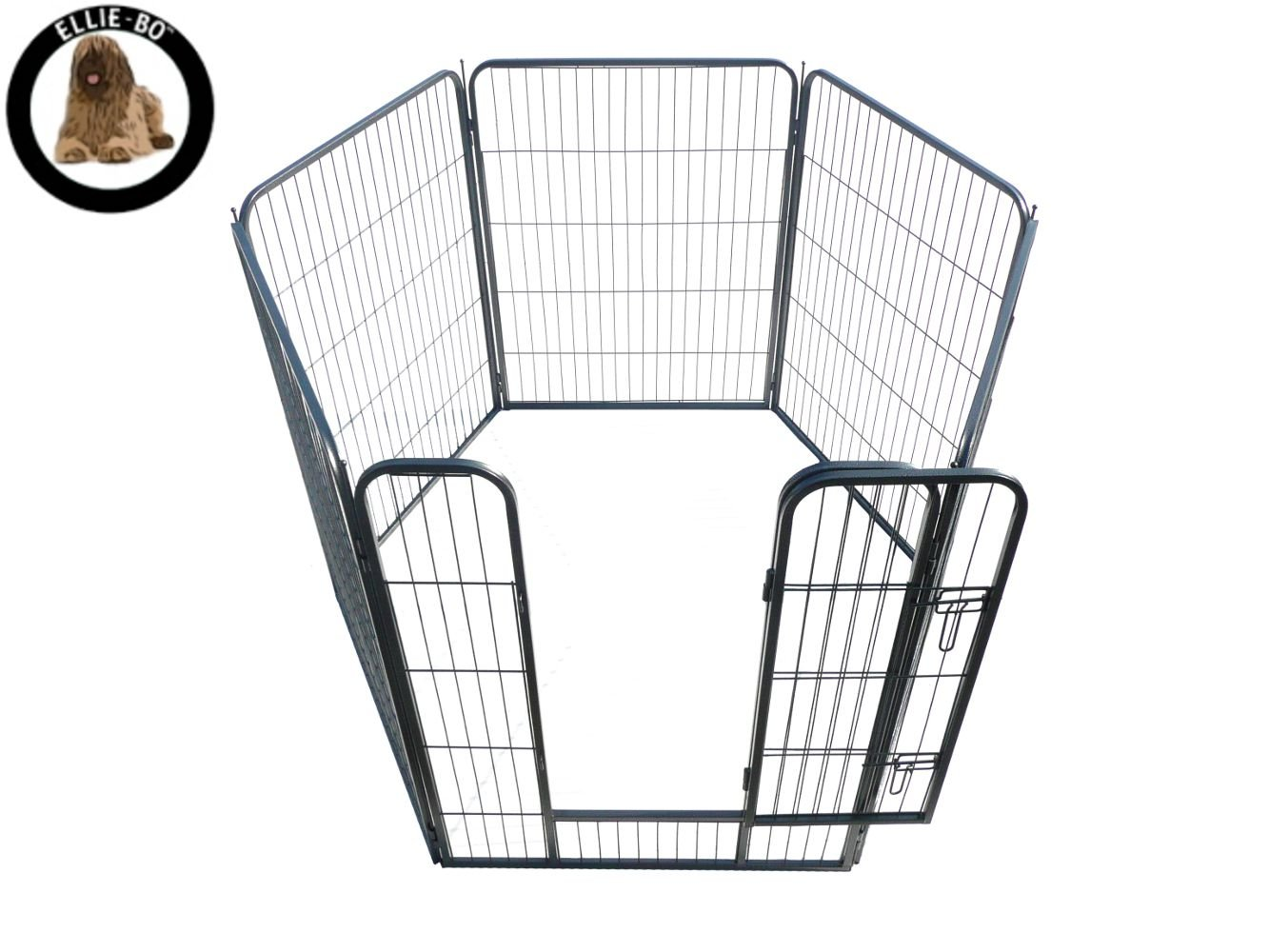 Ellie-Bo 6 Piece Heavy Duty Modular Puppy Exercise Play//Whelping Pen 100cm Height