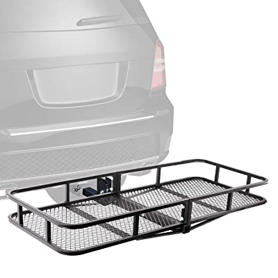 "XCAR Folding Hitch Mount Luggage Cargo Basket Trailer Cargo Carrier 60"" L x 24\"" W x 6\"" H Universal for Cars, Trucks, SUV\'s Hatchbacks with 2\"" Hitch Receiver: Automotive [5Bkhe1504857]"