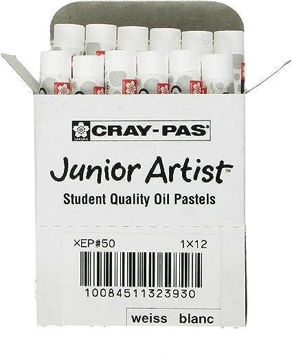 White Pack of 2 Sakura XEP-050 12-Piece Cray-Pas Junior Artist Oil Pastel Set