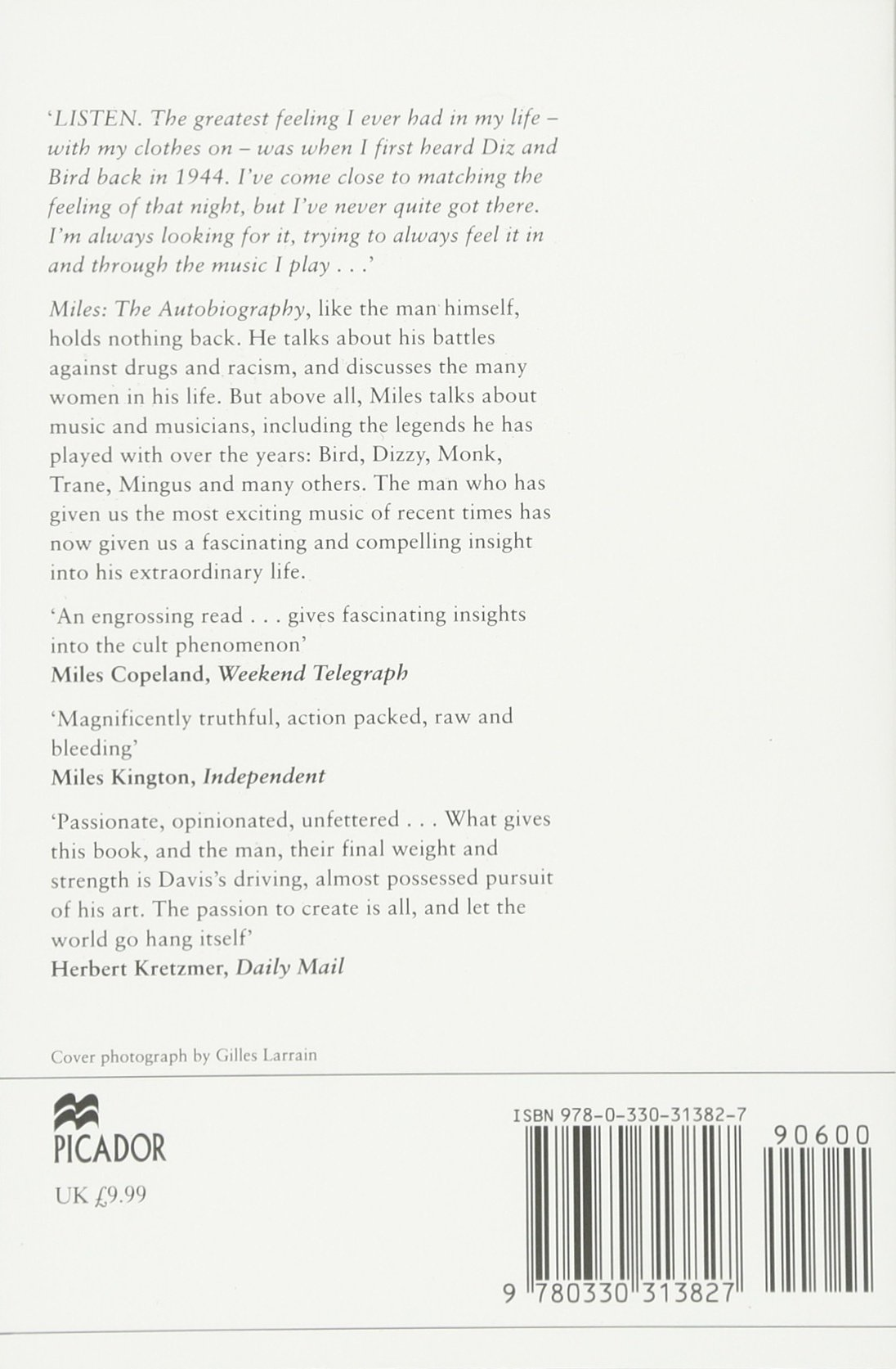 Miles: The Autobiography (picador Books): Miles Davis, Quincy Troupe:  9780330313827: Amazon: Books
