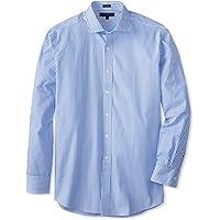 TOMMY HILFIGER 100% Cotton LS Slim Fit Non Iron Men's Dress Shirt