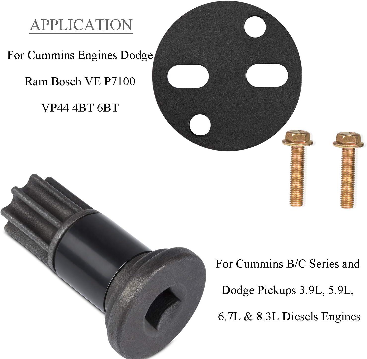 Sunluway Injection Pump Gear Puller Removal Installer Tool /& Engine Barring//Rotating Tool for Cummins Engines B//C Series,Dodge Ram Bosch VE P7100 VP44 4BT 6BT