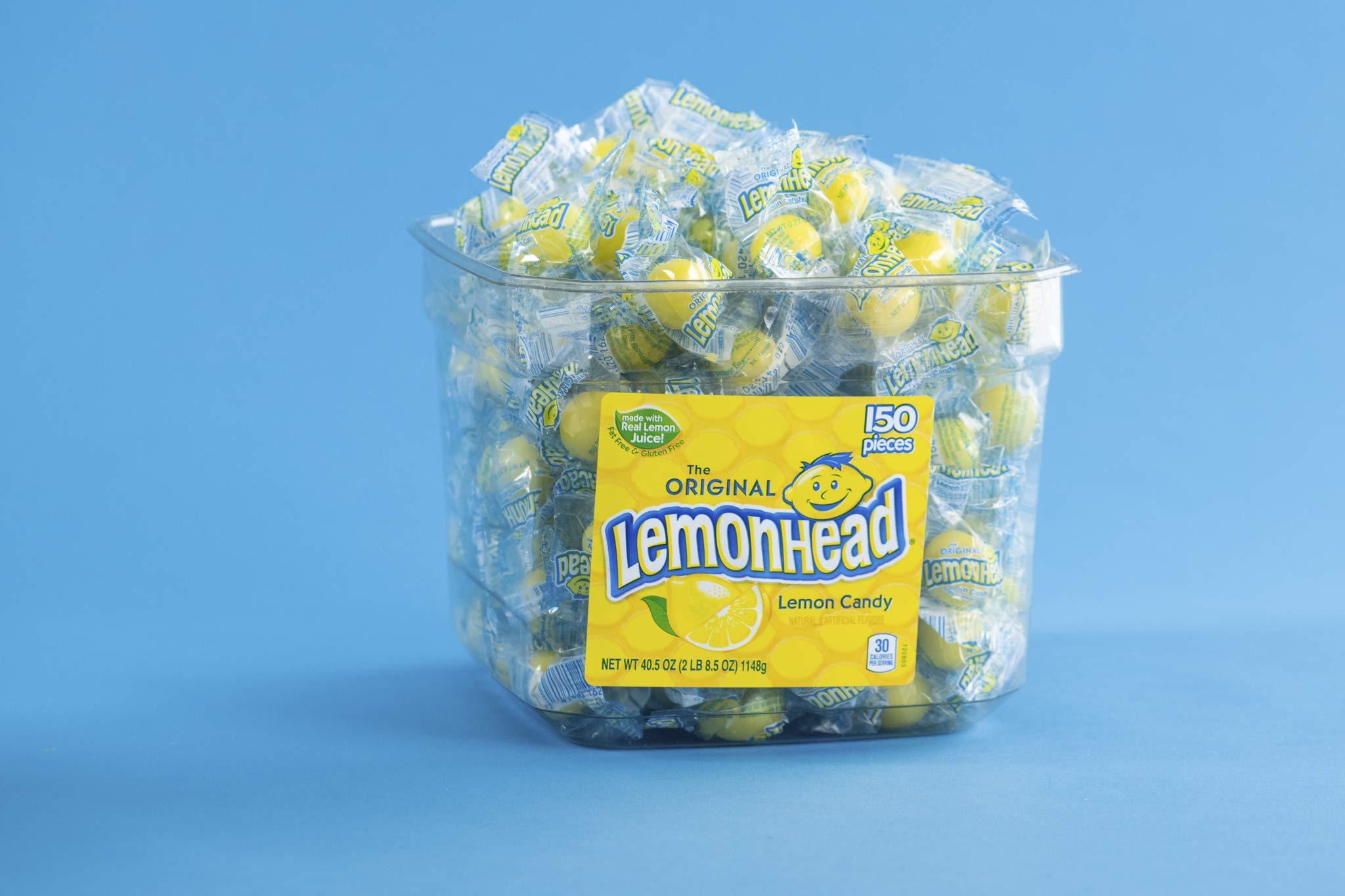 Lemonhead Lemon Candy, 150 Count Tub by LEMONHEADS