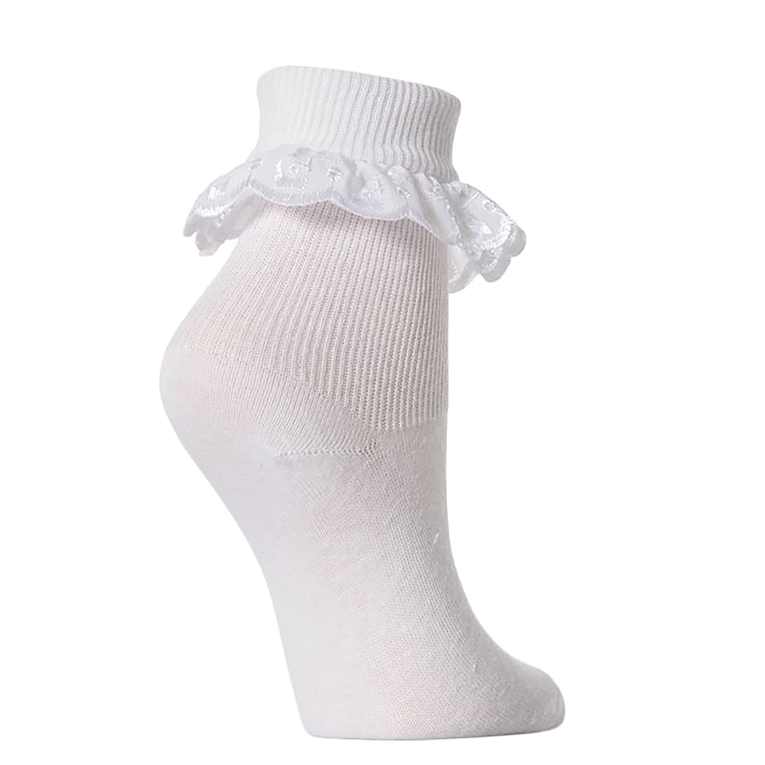 Baby Girls Extra Soft Frilly Lace Top Socks Pack 3 Amazon