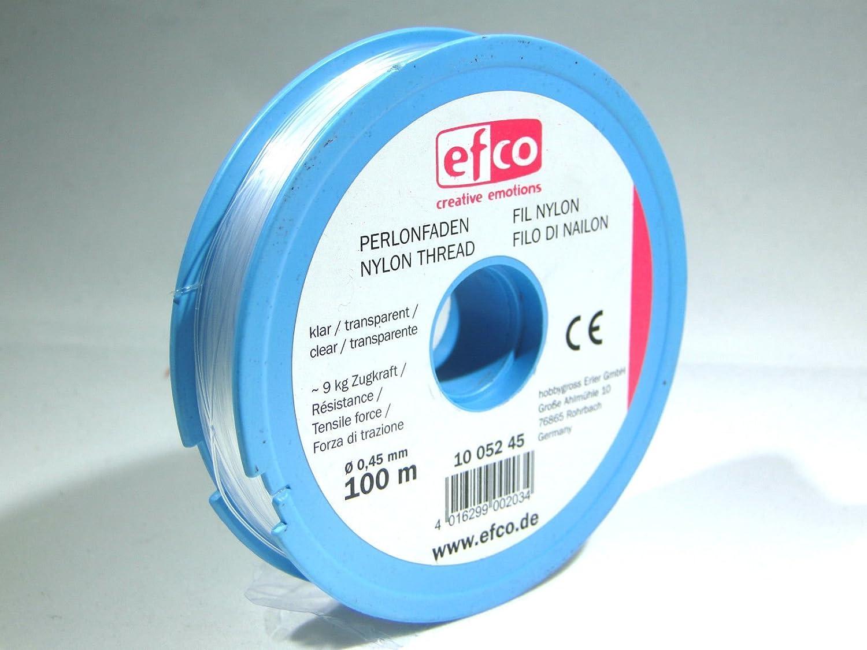0,9 kg ø 0,15 mm 100 m Clear Efco Polyamide Thread tensile Force Approx 12 x 5