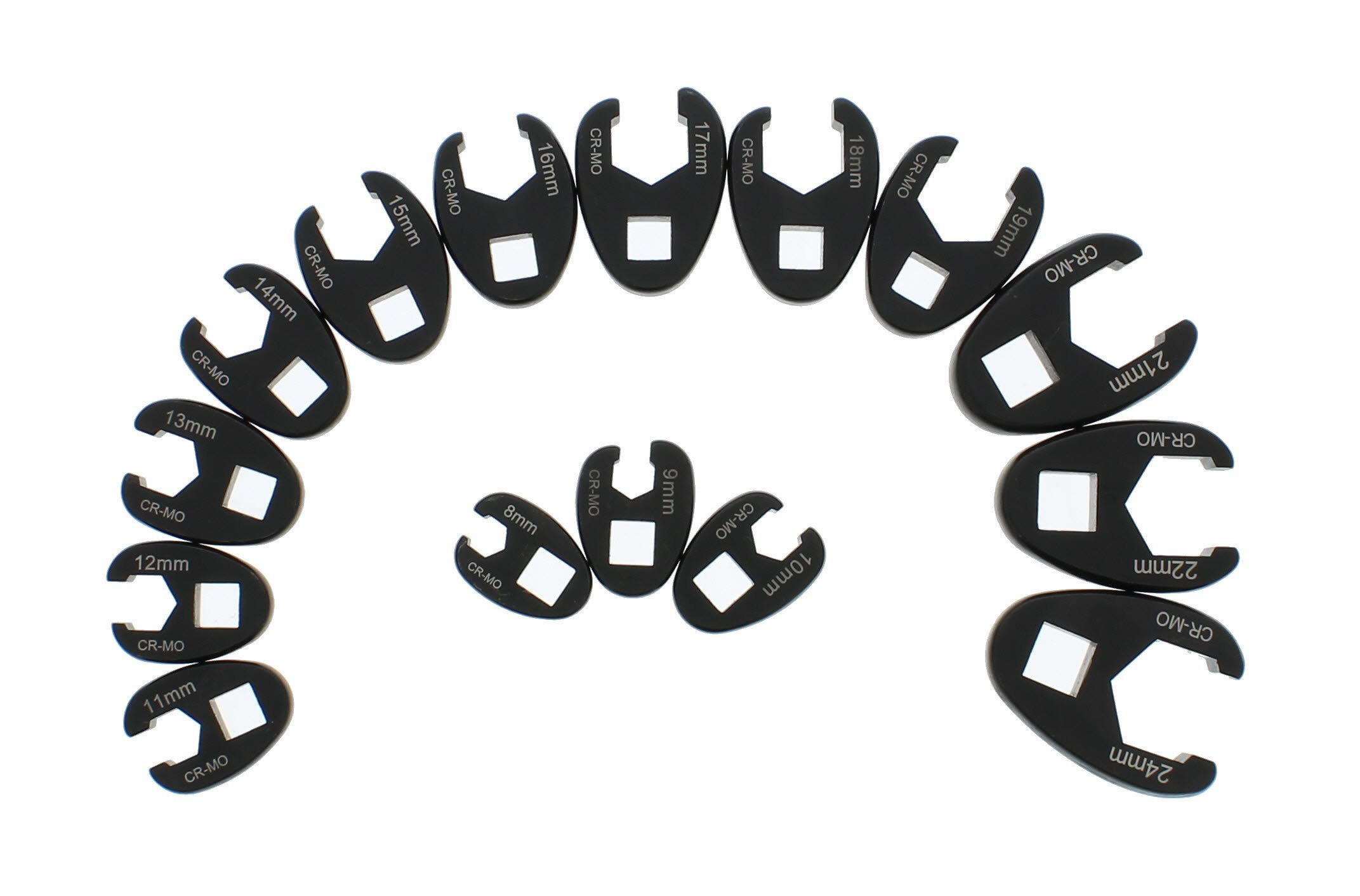 ABN Jumbo Crowfoot Flare Nut Wrench Set Metric 15-Piece Tool Kit for 3/8in and 1/2in Drive Ratchet by ABN (Image #3)