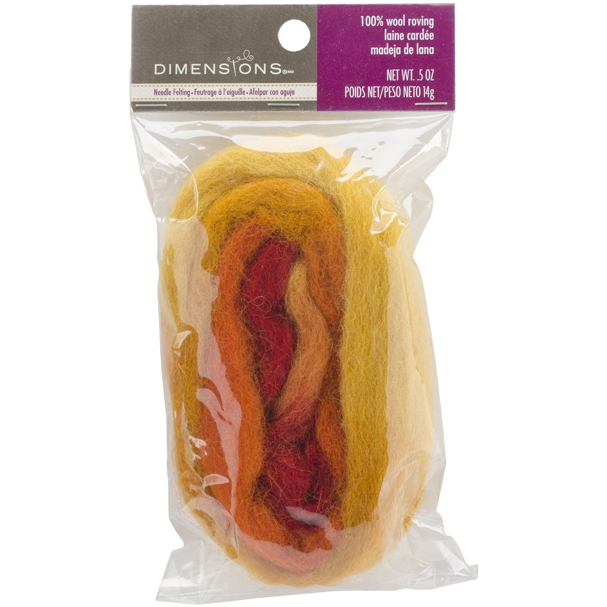Dimensions Crafts 72-73997 Warm Blended Wool Roving for Needle Felting
