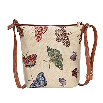 ccbdf8af73 Signare Tapestry Women Lightweight Sling Cross Body Satchel Bag Butterfly  (SLING-BUTT)(