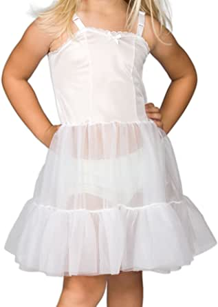 I.C. Collections Little Girls White Bouffant Sweetheart Slip Petticoat, 2T - 6X