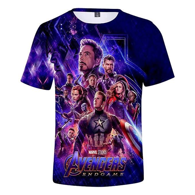 Amazon.com: 3D Avengers Endgame Camisa Deportiva Traje ...