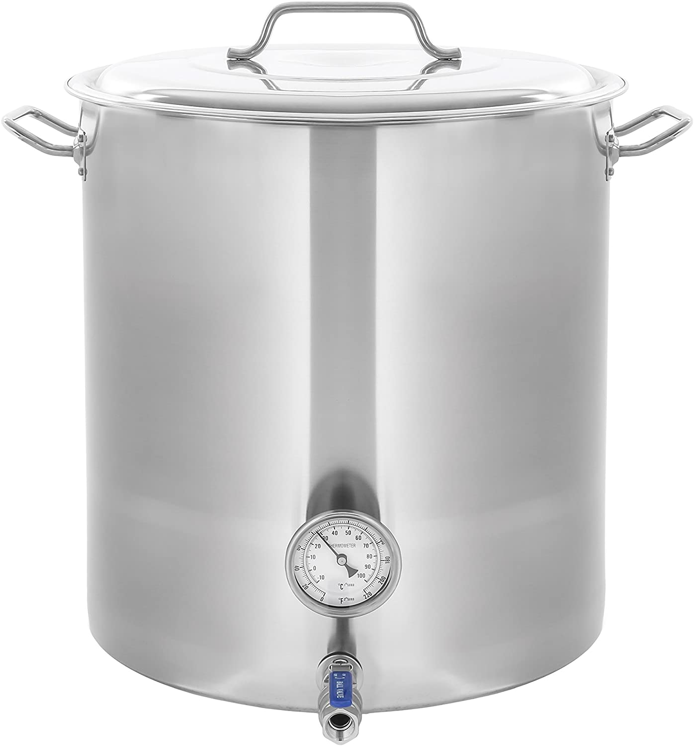 CONCORD Stainless Steel Home Brew Kettle Stock Pot (Weldless Fittings) (30 QT/ 7.5 Gal)
