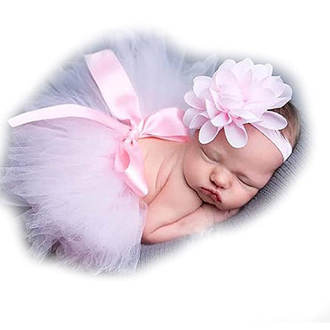 Neugeborenes Baby Mädchen Tutu Rock /& Stirnband Boutique Fotoshooting Stütze