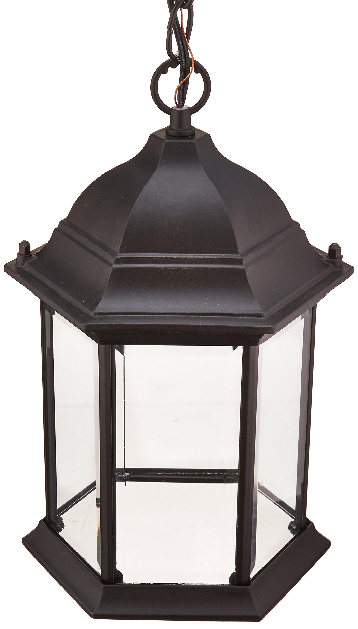Acclaim 5186BK Madison Collection 1-Light Outdoor Light Fixture Hanging Lantern, Matte Black