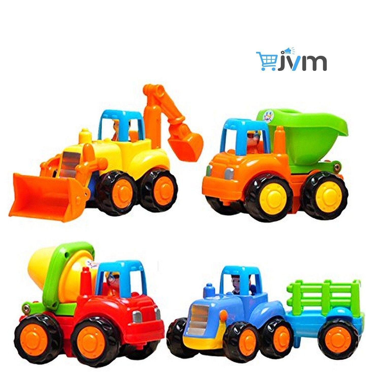 JVM Unbreakable Automobile Car Toy (Set of 4, Multicolor)