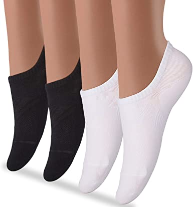 Women Invisible Loafer Socks 3pairs Nonslip No Show Low Cut Solid Cotton Clothes