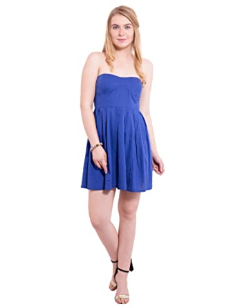 7fef1a068a785 KASHANA Pure Cotton Blue Sexy Beach Tube Dress for Women Girls Ladies   Amazon.in  Clothing   Accessories